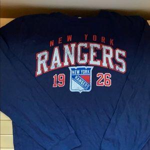 Boys NY Rangers long sleeve t shirt size Y Large